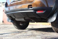 Накладка заднего бампера (аэродинамический обвес) 2 мм БЕЗ ПОКРЫТИЯ Renault Duster 2010-2014