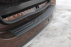 Накладка на задний бампер Вариант 2 Renault Duster 2010+
