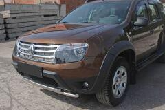 Защитная сетка в штатную решетку радиатора МЕТАЛЛИК Renault Duster 2010-2014