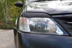Накладки на передние фары (Реснички) Renault Logan 2004-2013