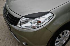 Накладки на передние фары (Реснички) Renault Sandero 2009-2013, Sandero Stepway 2009-2013