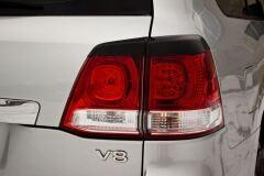 Накладки на задние фонари (реснички) Toyota LC 200 2007-2011