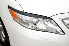 Накладки на передние фары (Реснички) УКОРОЧЕННЫЕ Toyota Camry V40 2009-2011