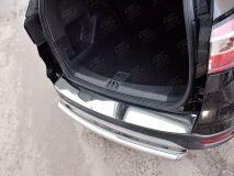 Накладка на задний бампер (лист нерж зеркальный) для Ford Kuga 2016-