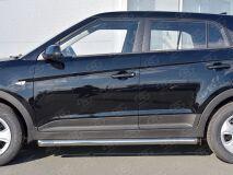 Пороги труба D63 секции (вариант 1) для Hyundai Creta 2016-
