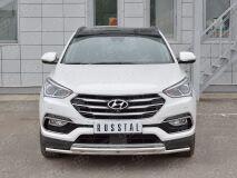 Защита переднего бампера D42 секция-D42 дуга для Hyundai Santa FE Premium 2015
