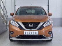 Защита переднего бампера D63 секция для Nissan Murano 2016