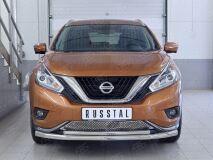 Защита переднего бампера D63 секция-D42 дуга для Nissan Murano 2016