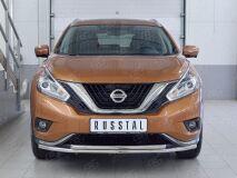 Защита переднего бампера D42 секция-D42 дуга для Nissan Murano 2016