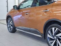 Пороги труба D63 (вариант 3) для Nissan Murano 2016