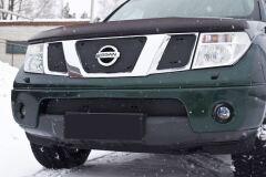 Зимняя заглушка решетки радиатора и переднего бампера Nissan Navara 2005-2010, Nissan Pathfinder 2004-2010 (R51)