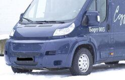 Зимняя заглушка решётки переднего бампера Citroen Jumper 2006-2013, Peugeot Boxer 2006-2013, Fiat Ducato 2012-2013