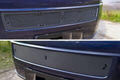 Защитная сетка и заглушка решетки переднего бампера Volkswagen Multivan (T5 рестайлинг) 2009-2015, Transporter (T5 рестайлинг) 2009-2015