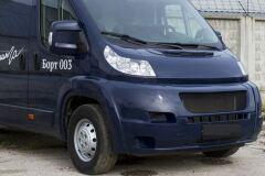 Защитная сетка решетки переднего бампера Peugeot Boxer 2006-2013 (250 кузов)