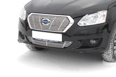 Накладка на решётку бампера 10 мм (НПС) Datsun on-DO Седан 2014-