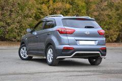 """Защита заднего бампера """"Волна"""" 51 мм (НПС) Hyundai Creta 2016-"""