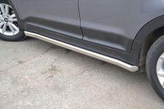 Защита порогов вогнутые 63 мм (НПС) Hyundai Creta 2016-