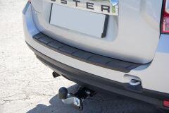 Накладка на задний бампер (чёрное тиснение) (ABS) RENAULT DUSTER 2012-