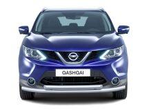 Защита переднего бампера двойная 63/51мм (НПС) NISSAN QASHQAI 2014-