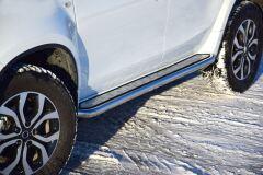 Защита порогов с алюм. площадкой Ø51мм «Эстонец» (НПС) RENAULT Duster 2012-/ NISSAN Terrano 2014-