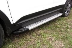 "Пороги алюминиевые ""Standart Silver"" 1700 серебристые GREAT WALL HOVER H5 2011-"