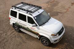 Багажник-корзина трехсекционная универсальная с основанием-решетка (ППК) 2100х1100мм под попереч