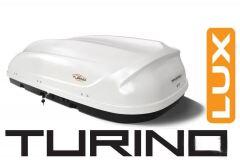 """Бокс-багажник на крышу Аэродинамический """"Turino 1 Lux"""" ДВУСТОРОННЕЕ открывание"""