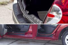 Защитный комплект (порожек багажника, накладки на пороги дверей) Renault Sandero Stepway 2009-2013