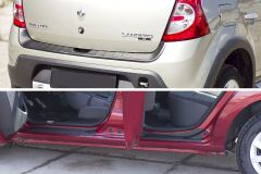 Защитный комплект №1 (защита заднего бампера, накладки на пороги) Renault Sandero Stepway 2009-2013