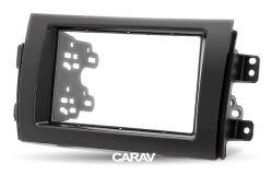 Переходная рамка для установки автомагнитолы CARAV 09-002: 2 DIN / 173 x 98 mm / 178 x 102 mm / FIAT Sedici 2006-2014 / SUZUKI SX4 2007-2014