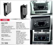 Переходная рамка для установки автомагнитолы CARAV 11-189: 2 DIN / CRYSLER/ DODGE / JEEP/ MITSUBISHI/ VW