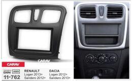 Переходная рамка для установки автомагнитолы CARAV 11-762: 2 DIN / 173 x 98 mm / 178 x 102 mm / RENAULT Logan 2013+; Sandero 2012+ / DACIA Sandero 2013+; Logan 2012+