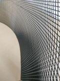 Алюминиевая сетка Ромб (100х50см, ячейка 15х8мм) черная (порошковая окраска)