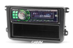Переходная рамка для установки автомагнитолы CARAV 11-782: 1 DIN / 182 x 53 mm / VOLKSWAGEN / SEAT / SKODA