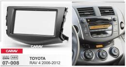 Переходная рамка для установки автомагнитолы CARAV 07-008: 2 DIN / 173 x 98 mm / 178 x 102 mm / TOYOTA RAV 4 2006-2012