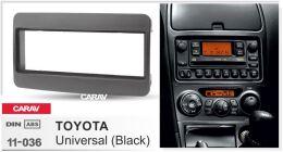 Переходная рамка для установки автомагнитолы CARAV 11-036: 1 DIN / 182 x 53 mm Toyota