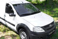 Жабо цельное Вариант 2 БЕЗ СКОТЧА усиленное 3 мм Lada (ВАЗ) Largus 2012- н.в. (универсал-фургон), Largus Cross (универсал) 2015—н.в., Renault Logan 2004—2013