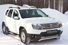 Жабо цельное Вариант 2 БЕЗ СКОТЧА усиленное 3 мм Renault Duster 2010-2014 (I поколение)