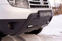 Зимняя заглушка решетки переднего бампера (С ДХО БЕЗ ОБВЕСА) Renault Duster 2010-2014