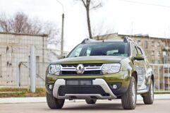 Защитная сетка решетки переднего бампера Renault Duster 2015-