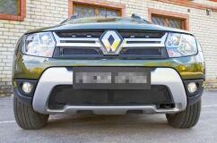 Защитная сетка решетки радиатора и решетки переднего бампера Renault Duster 2015-