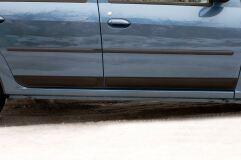 Молдинги на двери ГЛЯНЕЦ (ПОД ПОКРАСКУ) Renault Logan 2004-2013