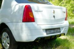 Диффузор на задний бампер ГЛЯНЕЦ (ПОД ПОКРАСКУ) Renault Logan 2004-2010