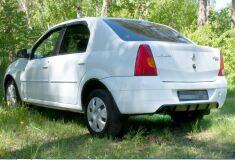 Диффузор на задний бампер ШАГРЕНЬ Renault Logan 2004-2010
