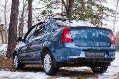 Диффузор на задний бампер Renault Logan 2010-2013 ГЛЯНЕЦ (ПОД ПОКРАСКУ)