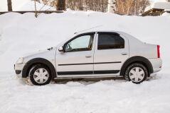 Расширители колесных арок (вынос 10 мм) Renault Logan 2010-2013 (ШАГРЕНЬ)