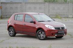 Молдинги на двери УЗКИЕ Renault Sandero 2009-2013, Sandero Stepway 2009—2013 ШАГРЕНЬ