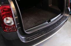 Защитный комплект Максимум: порожек, жабо цельное без скотча, накладки на пороги вариант 2, защита заднего бампера, подкрылки Renault Duster 2010-2014 (I поколение)