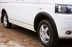 Накладки на колёсные арки Volkswagen Transporter (T5 рестайлинг) 2009-2015 ШАГРЕНЬ