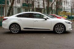 Молдинги на двери Mazda 6 2018- ГЛЯНЕЦ (ПОД ПОКРАСКУ)